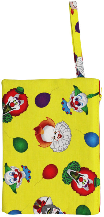 Clown Collage Wristlet