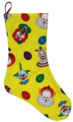 *Clown Collage Stocking