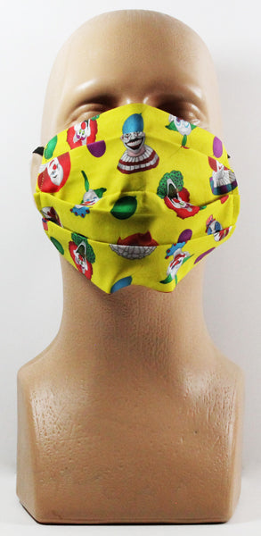 Clown Collage Face Mask