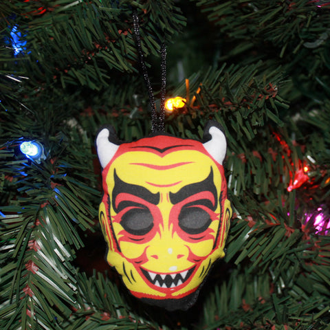Vintage Devil Mask Ornament