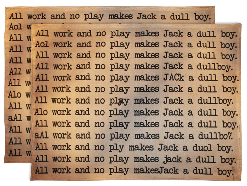 Dull Boy Placemats (Set Of 2)