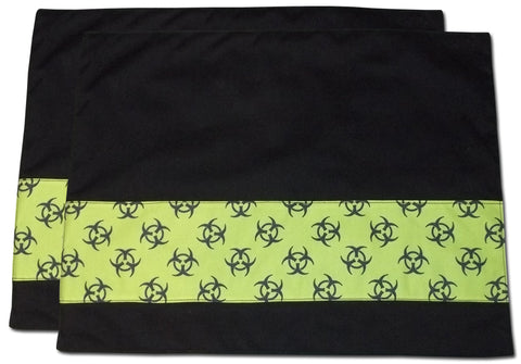 Green Biohazard Placemats (Set Of 2)