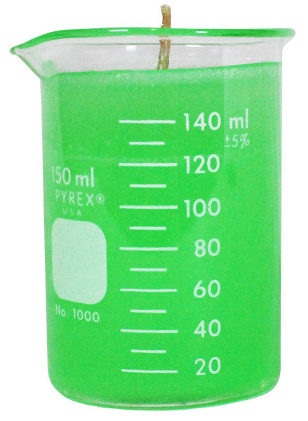 Small Green Beaker Candle