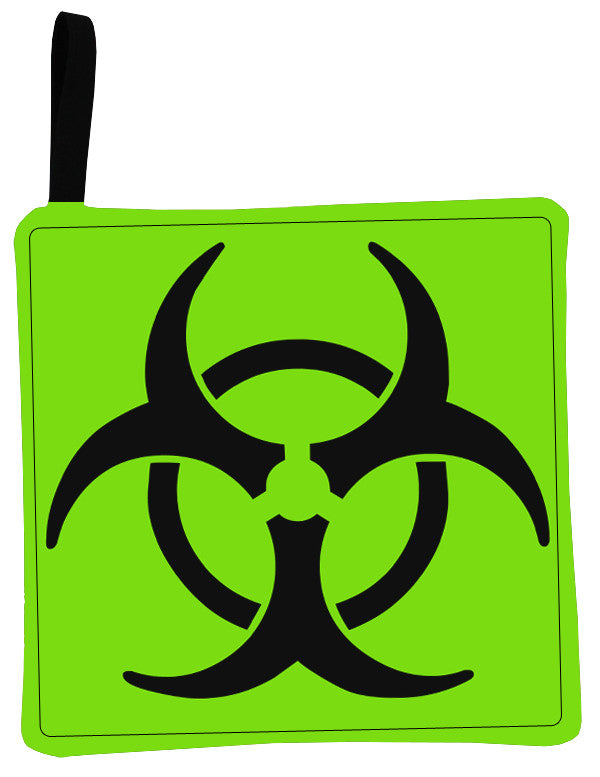 Green Biohazard Pot Holder