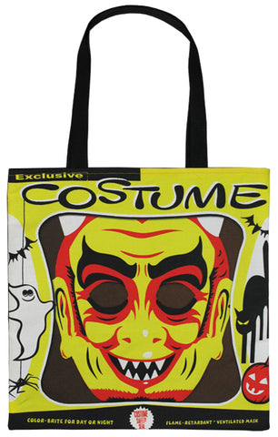 Vintage Devil Mask Tote Bag