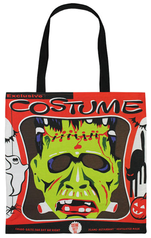 Vintage Frankenstein Mask Tote Bag