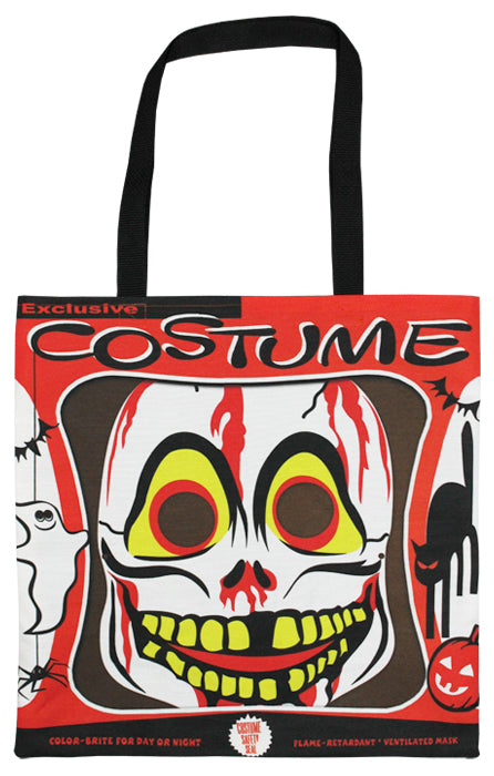 Vintage Skull Mask Tote Bag