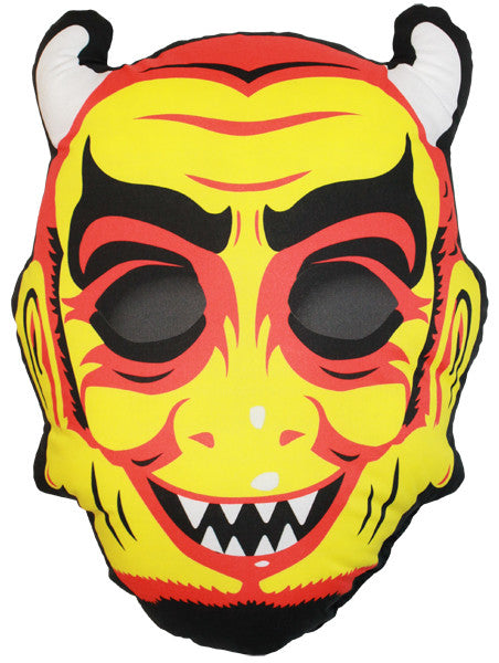 Vintage Devil Mask Pillow