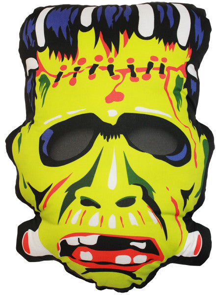 Vintage Frankenstein Mask Pillow