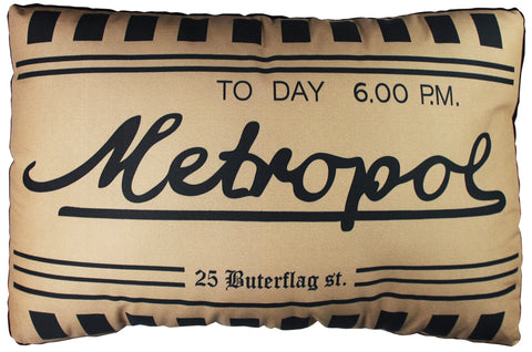 Metropol Ticket Pillow