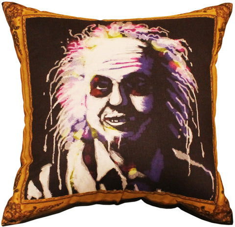 Portrait Of A Beetlejuice Pillow