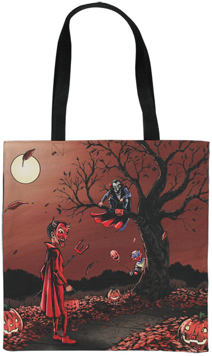 Mischief At Dusk Tote Bag