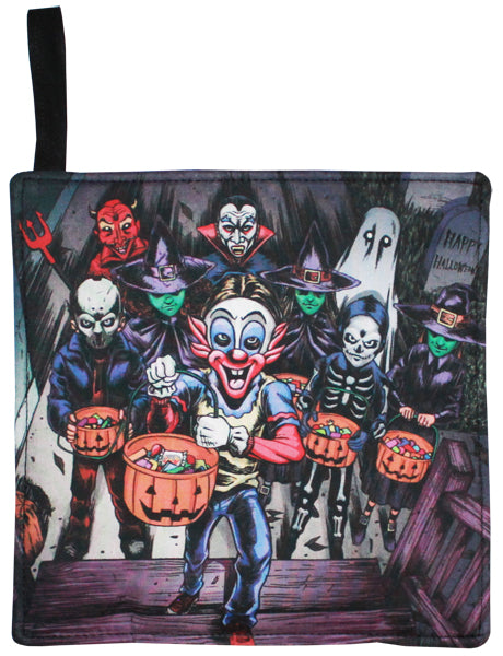 Trick Or Treaters Pot Holder