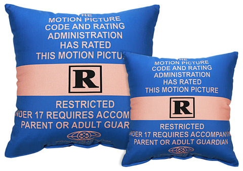 Rated R Pillow - Blue