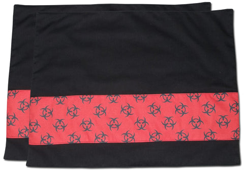 Red Biohazard Placemats (Set Of 2)