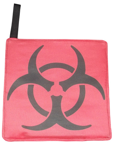 Red Biohazard Pot Holder
