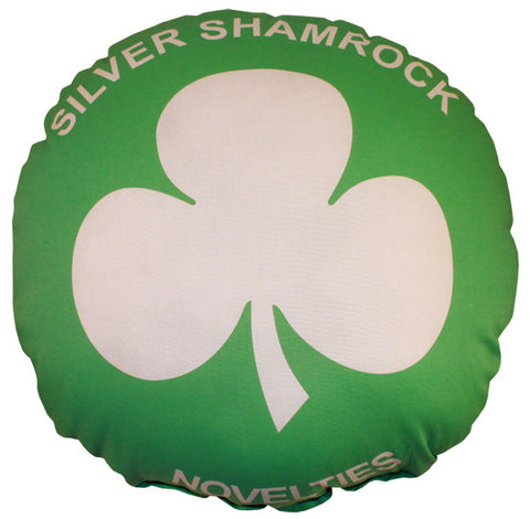 Silver Shamrock Pillow