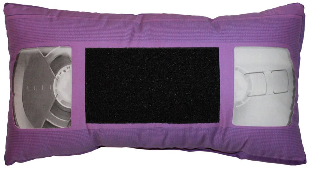 *VHS Pillow - Purple