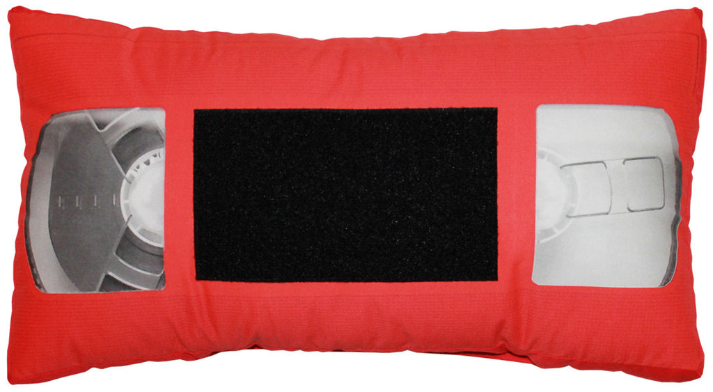 *VHS Pillow - Red