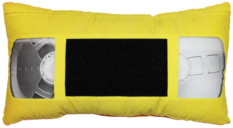 *VHS Pillow - Yellow