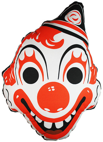 *Vintage Clown Mask Pillow (Halloween Variant)