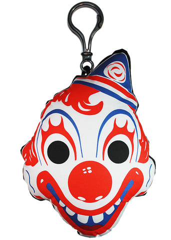 *Vintage Clown Mask Backpack Clip