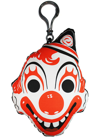 *Vintage Clown Mask Backpack Clip (Halloween Variant)