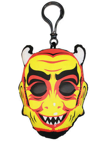 Vintage Devil Mask Backpack Clip