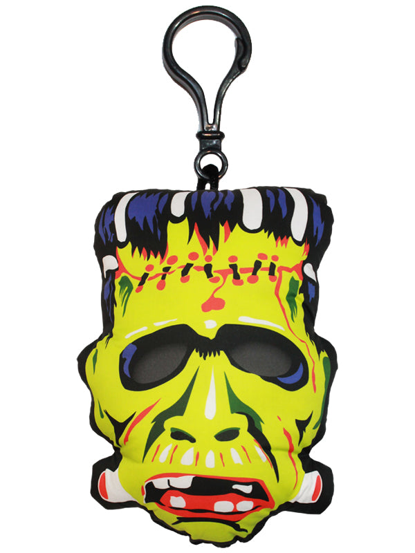 Vintage Frankenstein Mask Backpack Clip
