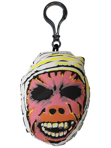 Vintage Mummy Mask Backpack Clip