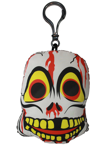 Vintage Skeleton Mask Backpack Clip