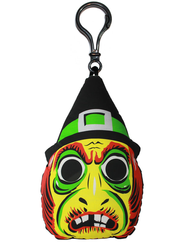Vintage Witch Mask Backpack Clip