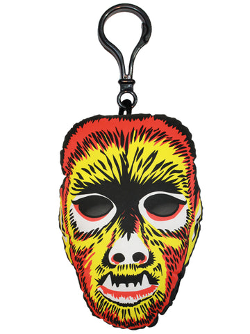 Vintage Wolfman Mask Backpack Clip