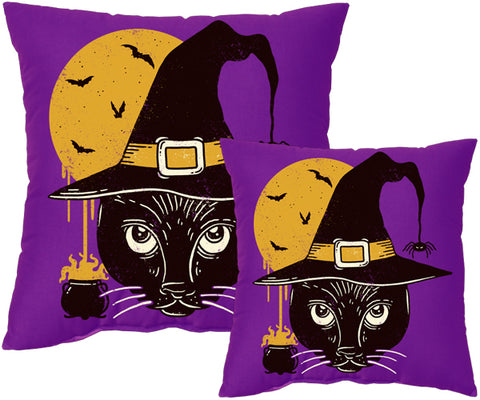 Witch Cat Pillow