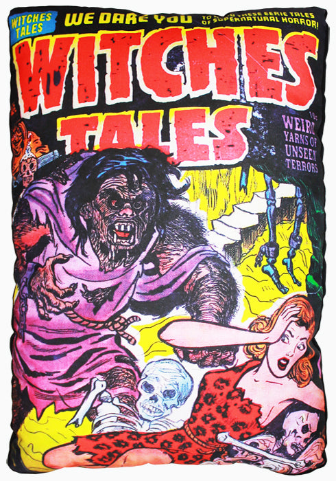 Witches Tales Comic Pillow