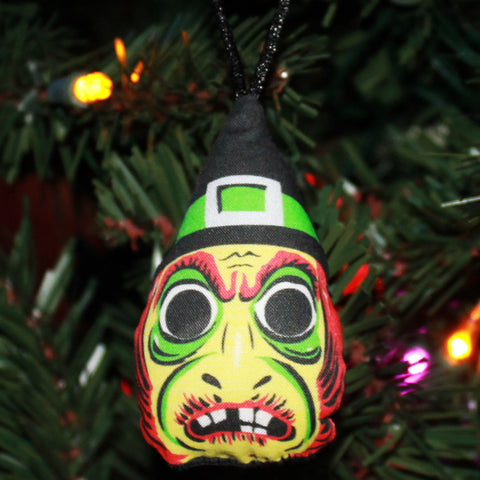 Vintage Witch Mask Ornament