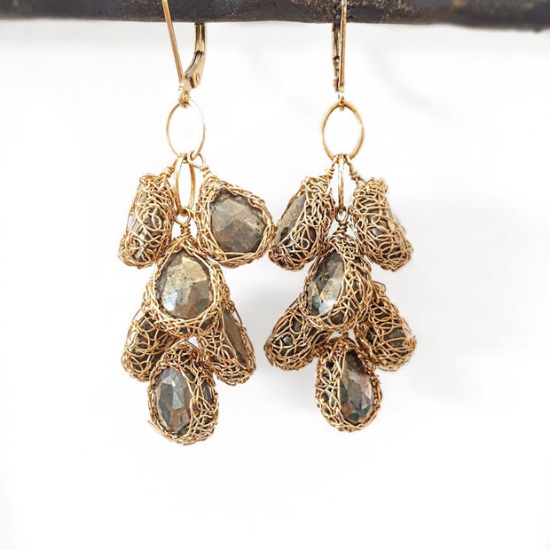 Cascade Earrings In Gold