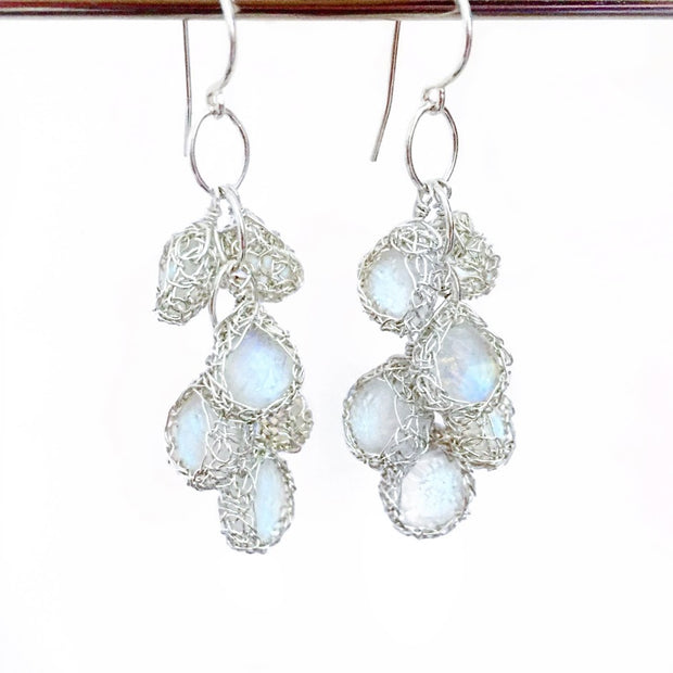 Cascade Earrings in Silver