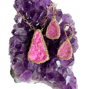 Cobalto Calcite Earrings In Gold