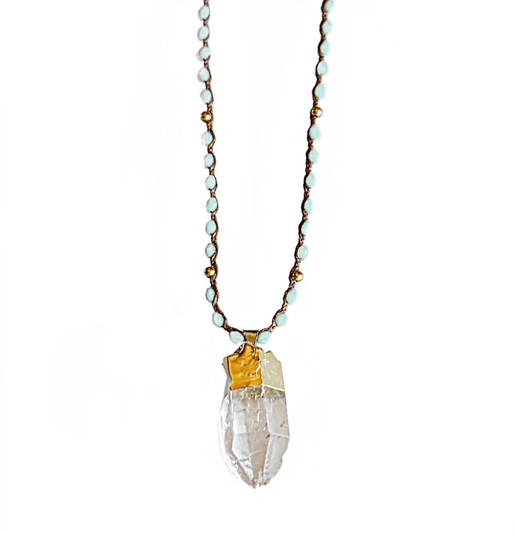 Amazonite Quartz Clarity necklace in Gold