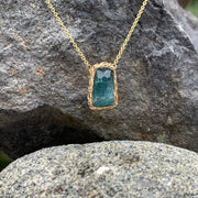 Indicolite Tourmaline Necklace In Gold