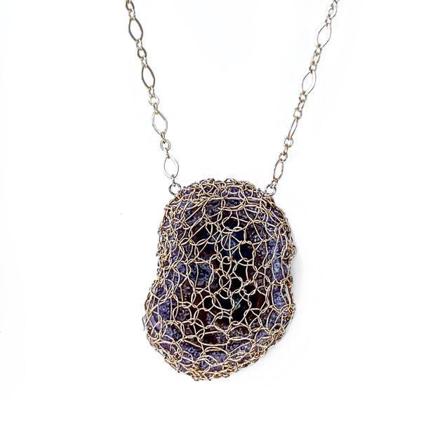 Amethyst Stalactite Necklace in Gold