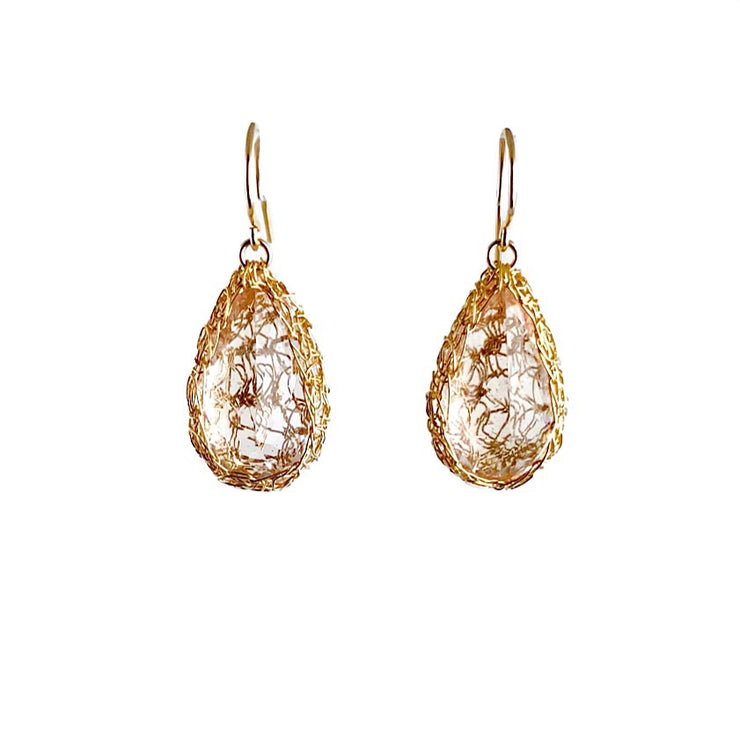 Morganite Earrings in Gold
