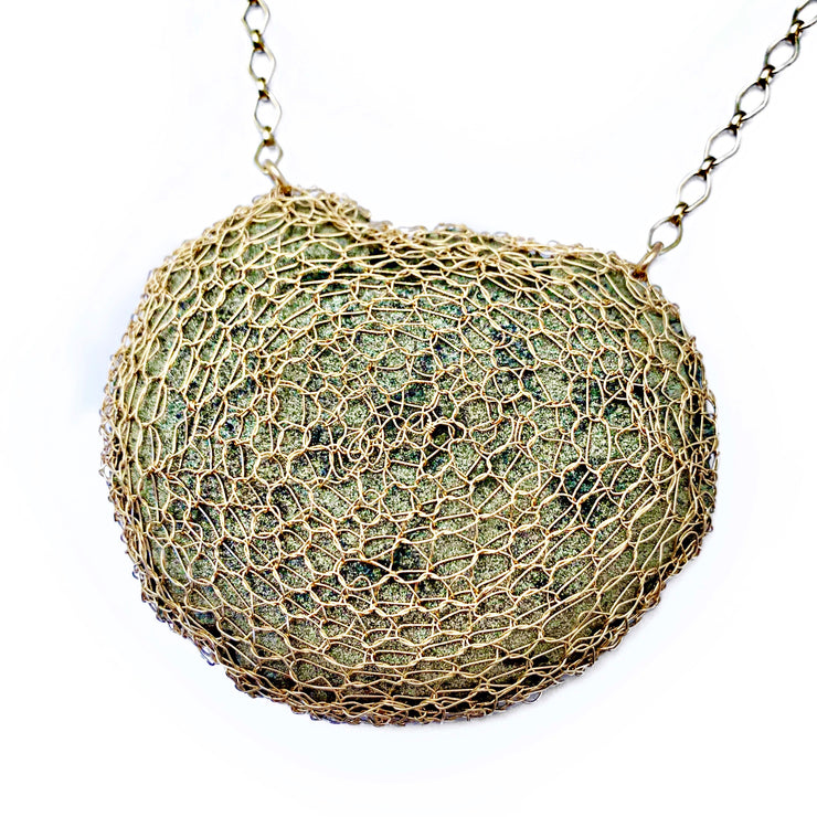 Pyrite Sun Necklace in Gold