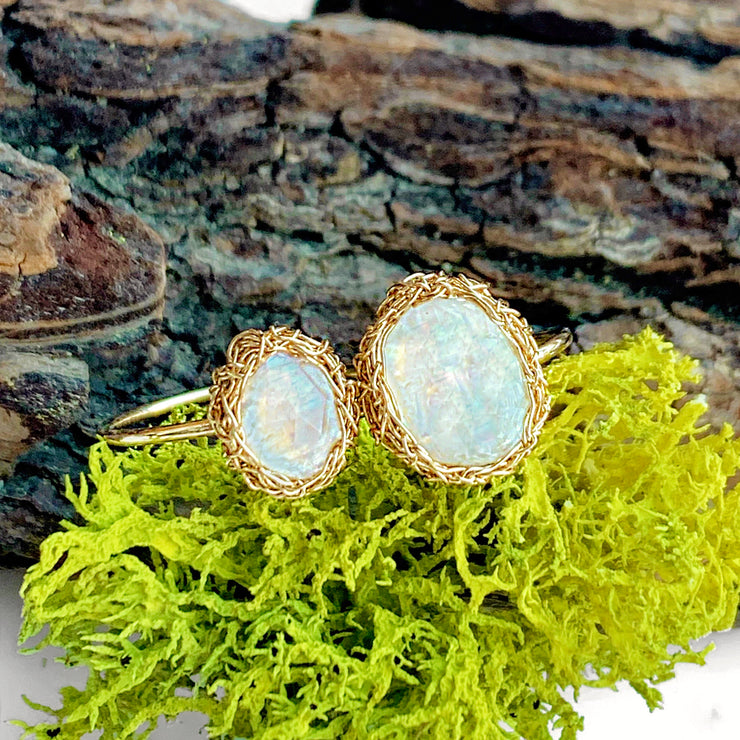 Moonstone Oval Luna Ring in Gold