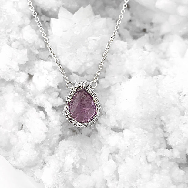 Amethyst Necklace In Silver