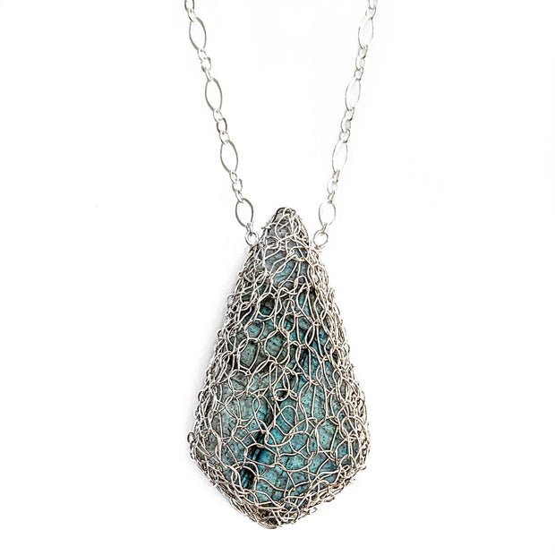 Labradorite Kite Necklace in Silver