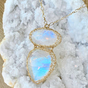 Double Rainbow Necklace in Gold