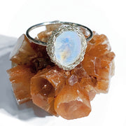 Moonstone Oval Luna Ring in Silver