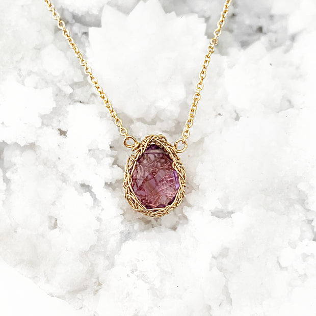 Amethyst Necklace In Gold